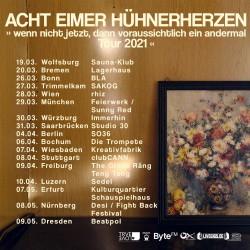 Acht Eimer Hühnerherzen Teaser Tour 2021